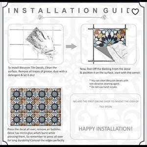 Bleucoin Peel & Stick Floor/backsplash Tiles